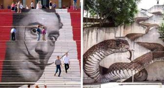 21 metropolitane Treppen, die die Kunst in kleine Meisterwerke verwandelt hat.