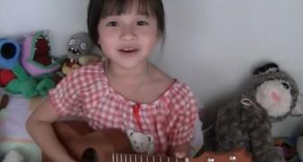 Die süße Gail singt Bruno Mars mit der Ukulele