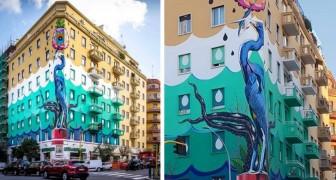 A Roma è stato realizzato l'eco-murale più grande d'Europa: mangia lo smog come un bosco di 30 alberi