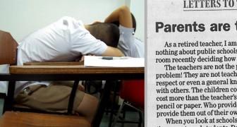 Un'insegnante in pensione scrive una lettera ai genitori irresponsabili: le sue parole sollevano un dibattito
