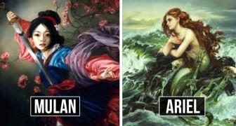 Une artiste imagine les personnages Disney comme des peintures à l'huile, et le résultat est enchanteur