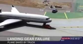 Salva l'atterraggio dell'aereo con il Pick-up