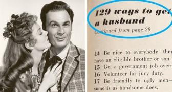 Questa lista del 1958 elenca 129 modi per trovare marito: ciò che la donna dovrebbe fare è grottesco