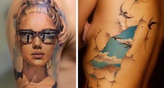 Deze 17 3D-tatoeages zijn zo perfect gezet dat het net schilderijen lijken