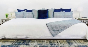 This mattress is almost 13 feet (4 meters) wide and has been designed to accommodate the whole family