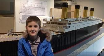 Um menino autista constrói a maior réplica do Titanic do mundo feita com o Lego