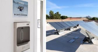 Una startup ha creato dei pannelli solari per raccogliere acqua potabile dall'aria: sono già operativi in 11 Paesi