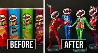 L'artista giapponese che trasforma le confezioni degli snack in incantevoli opere d'arte