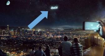 Dieses Startup will riesige Werbespots in den Nachthimmel projizieren