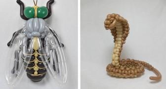 Questo artista giapponese crea con i palloncini le più belle sculture che abbiate mai visto