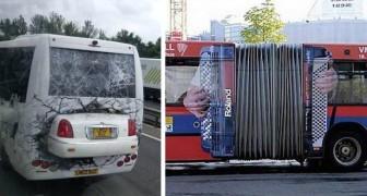 I 14 annunci pubblicitari più creativi che siano mai apparsi sugli autobus di tutto il mondo