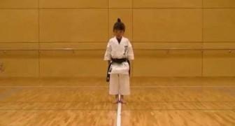 Cintura nera di karate a soli 7 anni