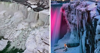 L'ondata di gelo ha trasformato le Cascate del Niagara in un villaggio ghiacciato: le foto sono mozzafiato