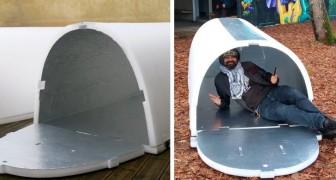 Ein junger Ingenieur hat preiswerte Unterkünfte für Obdachlose erfunden, die recycelbar und isolierend sind