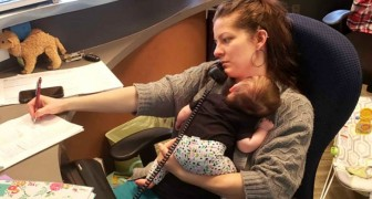 A mother brings her newborn daughter to work and her boss takes a picture, but it triggers a heated debate