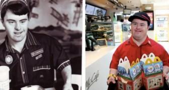 Ein McDonald's-Mitarbeiter mit Down-Syndrom geht in den Ruhestand, nachdem er mehr als 30 Jahre mit einem Lächeln im Gesicht gearbeitet hat