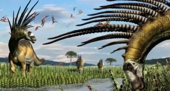 Wissenschaftler entdeckten einen Dinosaurier, der einen spektakulären Dornenkranz hatte