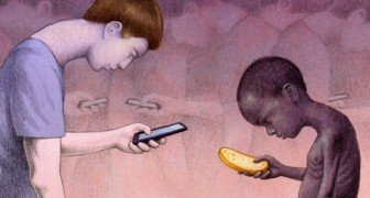 16 dystopische illustraties die de dwaasheid van de moderne wereld weergeven