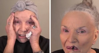 A 78-year-old woman puts on makeup that rejuvenates her by at least 10 years! Here is her transformation