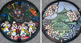 In Giappone, i tombini sono delle vere opere d'arte: camminare per le strade è come visitare un museo