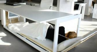 Dieser Schreibtisch mit Bett ist alles, was Sie brauchen, um bei der Arbeit produktiver zu sein