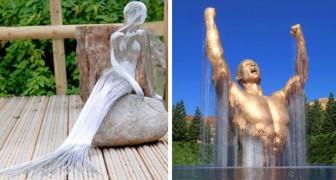 18 originele sculpturen die erin slagen de verbeelding van de waarnemer te stimuleren