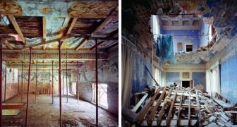 Een fotograaf ging de verlaten Italiaanse renaissance gebouwen binnen en portretteerde ze in al hun schoonheid