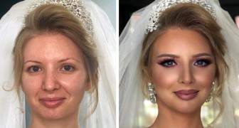The power of makeup is shown here with these 27 brides that make-up artists have made beautiful and unrecognizable
