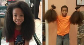 Questo bimbo si è fatto crescere i capelli per due anni per donarli ai bimbi malati di cancro