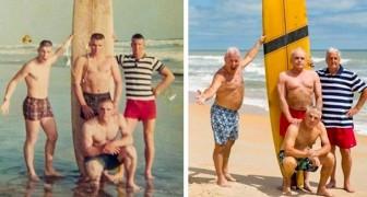 25 vezes que as pessoas recriaram antigas fotos com resultados muito engraçados!