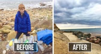 Cet enfant se rend tous les jours sur les plages de sa ville pour les nettoyer des ordures