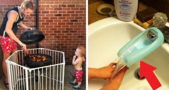 20 ideias geniais que os pais tiveram para simplificar as suas vidas