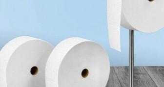 """Een beroemd merk heeft de eerste """"Oneindige wc-rol"""" gemaakt, een rol toiletpapier die een hele maand duurt"""