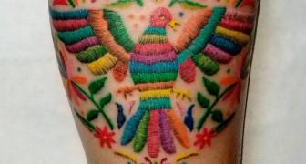 Die neue Mode der gestickten Tattoos ist da.... und sie sind viel schöner, als Sie sich vorstellen können...
