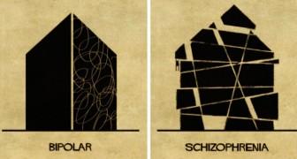Un illustratore italiano è riuscito a descrivere i disturbi mentali con 16 disegni di ispirazione architettonica