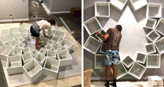 Ein Paar baut ein neues Bücherregal für seine Kinder: Das Ergebnis ist der Traum jedes Lesers