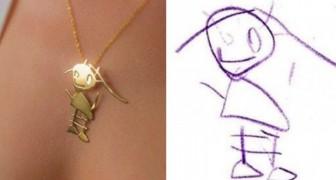 Cette entreprise transforme des dessins d'enfants en de magnifiques pendentifs qui peuvent être conservés pour toujours