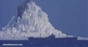 L'effroyable explosion en mer