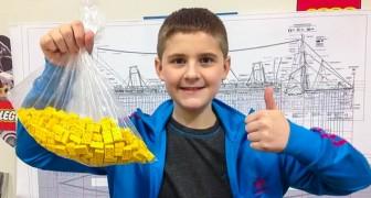 Ein 10-jähriger autistischer Junge baut eine riesige Nachbildung der Titanic aus LEGO Steinen