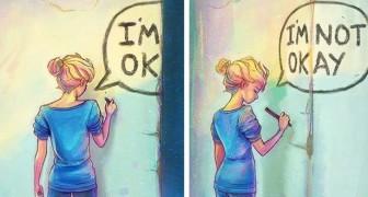 24 immagini dense di significato realizzate da un'artista che lotta contro la depressione