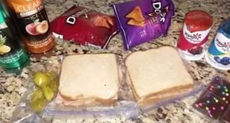 Mamman blir förvånad över att sonen ber henne att förbereda två lunchportioner, men sedan inser hon att en av dem är till någon annan