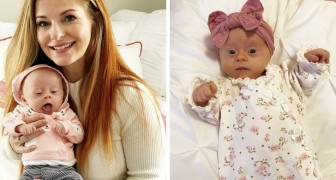 En mamma publicerar en recension av sin dotter med Downs syndrom och hennes ord berör människor världen över