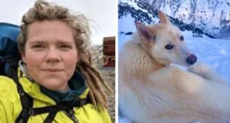 Uma mulher com deficiência auditiva fica presa em uma montanha, mas um corajoso husky salva a sua vida