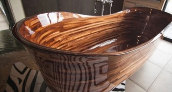 An artisan creates bathtubs using naval technology ... and the result is extraordinary!