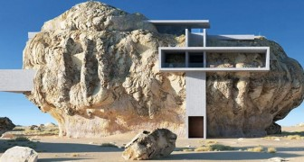 La maison à l'intérieur du rocher : un projet spectaculaire qui allie admirablement l'ancien et le moderne
