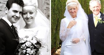 They got married in 1966 and 50 years later they wear the same wedding clothes ... and they are simply perfect!