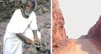 Un uomo impiega 22 anni a dividere una montagna a metà... e il motivo è il più commovente che possiate immaginare