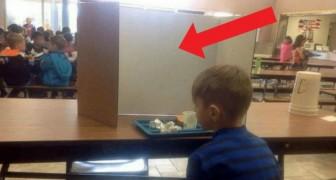 Mamman går till skolan för att träffa sin son men upptäcker att lärarna förödmjukar honom framför alla av en larvig anledning