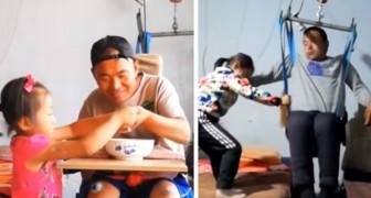 Esta menina de 6 anos cuida do seu pai desde que um horrível acidente o deixou inválido