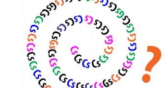 Een kleine hersentraining: hoeveel G -letters zie je in deze spiraal?